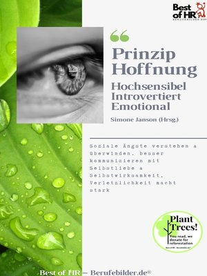 cover image of Prinzip Hoffnung. Hochsensibel Introvertiert Emotional