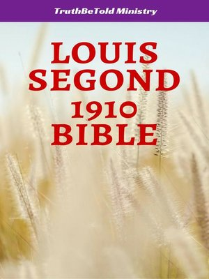 cover image of Louis Segond 1910 Bible