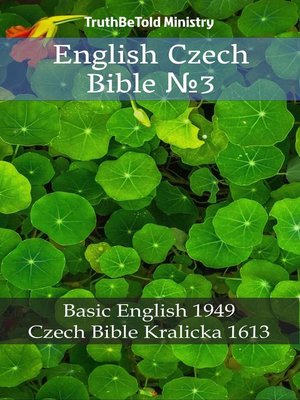 cover image of English Czech Bible №3