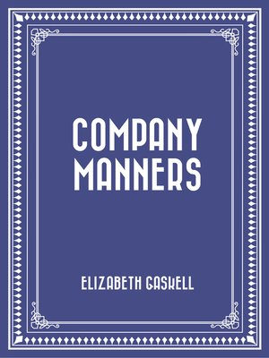 cover image of Company Manners