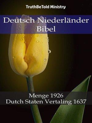 cover image of Deutsch Niederländer Bibel