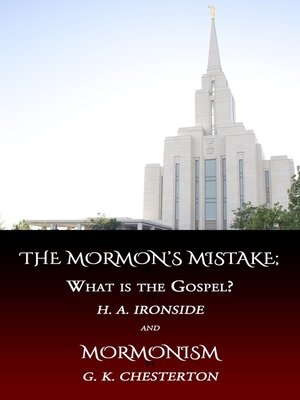 cover image of The Mormon's Mistake