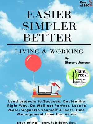 cover image of Easier Simpler Better Living & Working