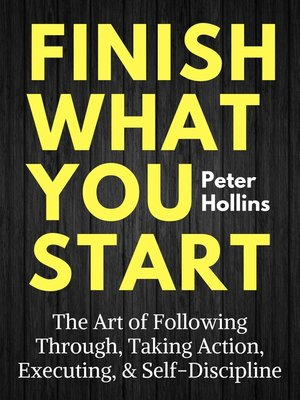 cover image of Finish What You Start