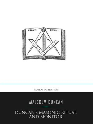 cover image of Duncan's Masonic Ritual and Monitor