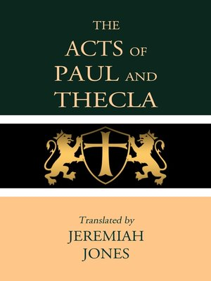 cover image of Acts of Paul and Thecla