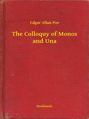 cover image of The Colloquy of Monos and Una