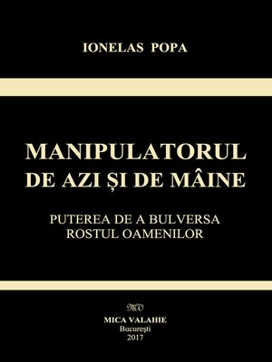 cover image of Manipulatorul de azi si de maine