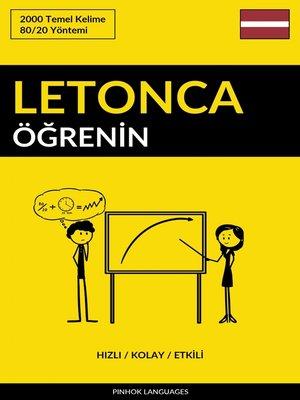 cover image of Letonca Öğrenin - Hızlı / Kolay / Etkili