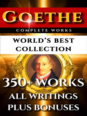 cover image of Goethe Complete Works – World's Best Collection