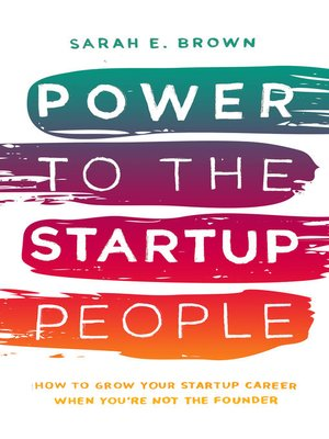 cover image of Power to the Startup People