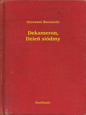 cover image of Dekameron, Dzień siódmy