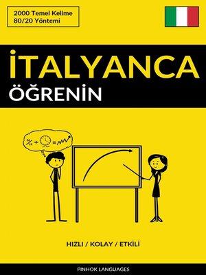 cover image of İtalyanca Öğrenin--Hızlı / Kolay / Etkili