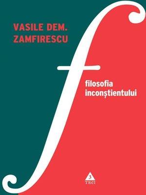 cover image of Filosofia inconștientului