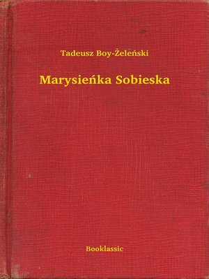 cover image of Marysieńka Sobieska