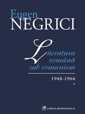 cover image of Literatura romana sub comunism