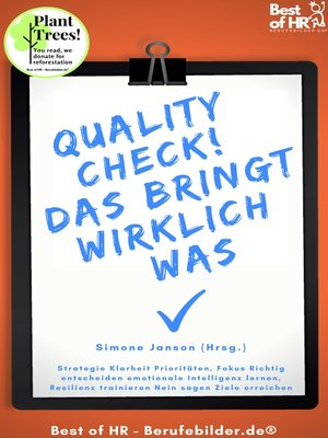 cover image of QualityCheck! Das bringt wirklich was