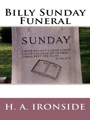 cover image of Billy Sunday Funeral