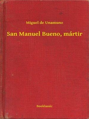 cover image of San Manuel Bueno, mártir