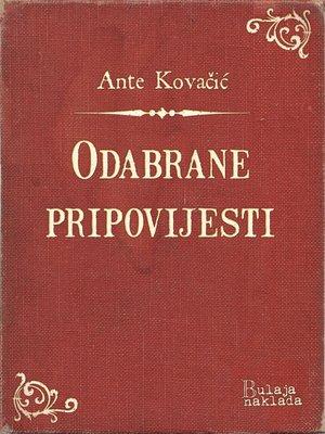 cover image of Odabrane pripovijesti