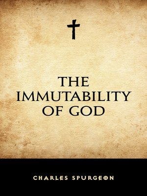 cover image of The Immutability of God
