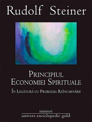 cover image of Principiul economiei spirituale în legătura cu problema reîncarnării