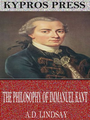 cover image of The Philosophy of Immanuel Kant
