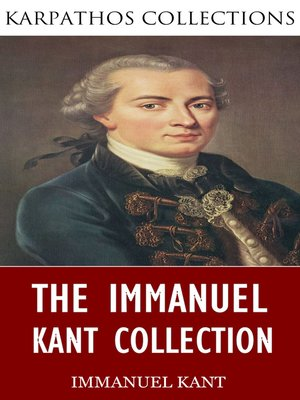 cover image of The Immanuel Kant Collection