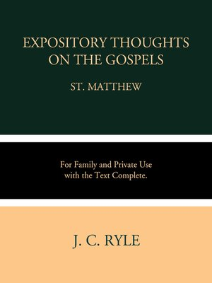 cover image of Expository Thoughts on the Gospel: Matthew