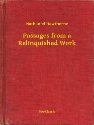 cover image of Passages from a Relinquished Work