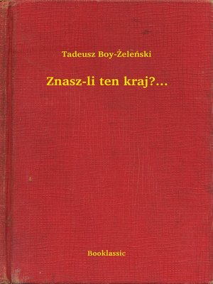 cover image of Znasz-li ten kraj?...