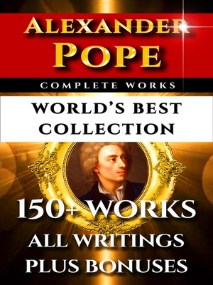 cover image of Alexander Pope Complete Works – World's Best Collection