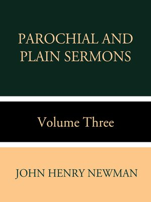 cover image of Parochial and Plain Sermons Volume Three