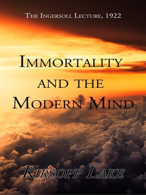 cover image of Immortality and the Modern Mind