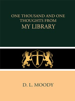 cover image of One Thousand and One Thoughts from My Library