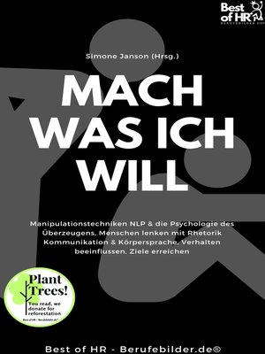 cover image of Mach was ich will
