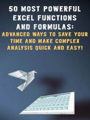 cover image of 50 most powerful Excel Functions and Formulas