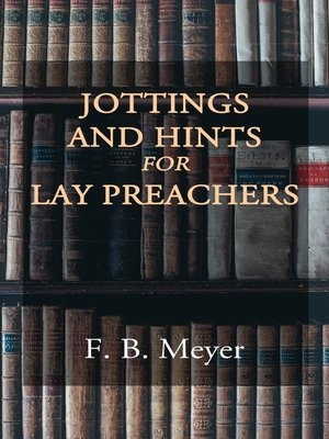 cover image of Jottings and Hints for Lay Preachers