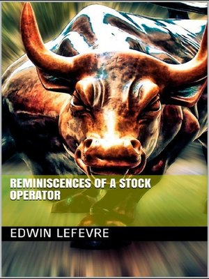 cover image of Reminiscences of a Stock Operator