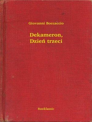 cover image of Dekameron, Dzień trzeci