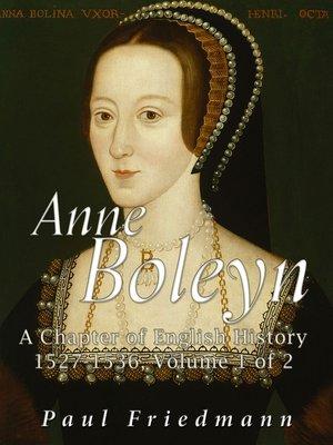 cover image of Anne Boleyn