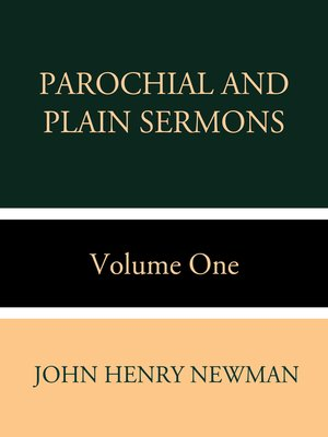 cover image of Parochial and Plain Sermons Volume One
