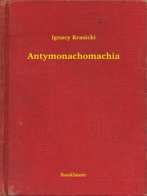 cover image of Antymonachomachia