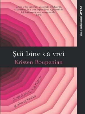 cover image of Stii bine ca vrei