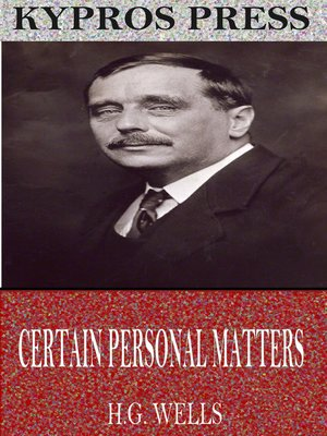 cover image of Certain Personal Manners