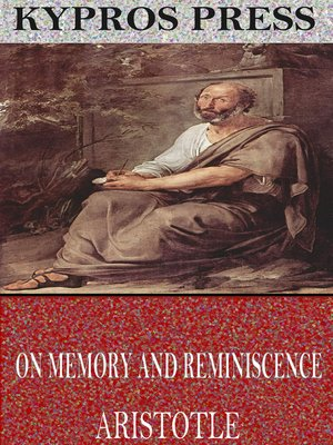 cover image of On Memory and Reminiscence