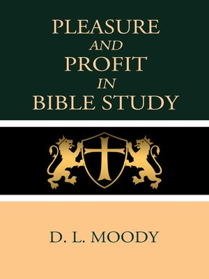 cover image of Pleasure and Profit in Bible Study