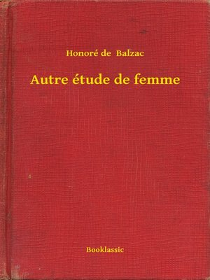 cover image of Autre étude de femme