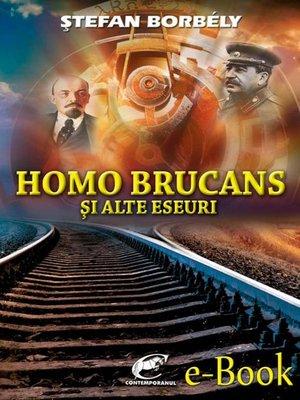 cover image of Homo brucans și alte eseuri