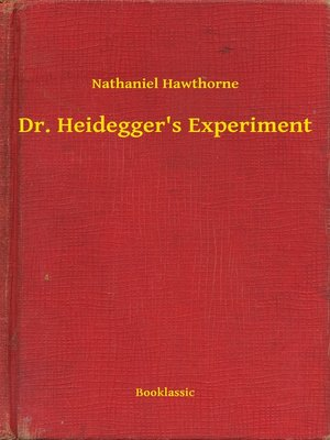 cover image of Dr. Heidegger's Experiment